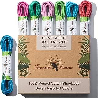 Toucan Laces 7 Pairs Dress Shoe Laces for Mens Oxford | Shoelaces | Shoe Strings