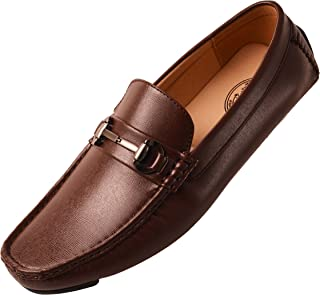 Amali Men's Smooth and Perforated Driving Moccasin Casual Loafer Driving Shoes