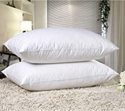 EVELYN LIVING - Goose Feather and Down Pillows Pack of 2 Hotel Quality Bed Pillows Hypoallergenic Soft Pillow Medium Support Pillow