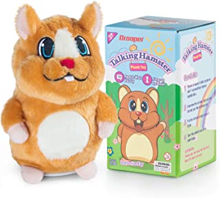 Qrooper Talking Hamster Repeats What You Say,Plush Interactive Hamster with Talking Back Function, Kids Toys for 2 3 4 5 Years Old, for Boys Girls or Pets