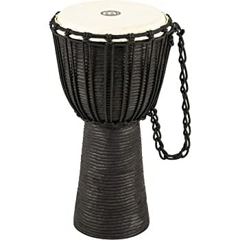 Meinl Percussion Djembe with Mahogany Wood - NOT Made in CHINA - 10-Inch Medium Size Rope Tuned Natural Head, 2-Year Warranty