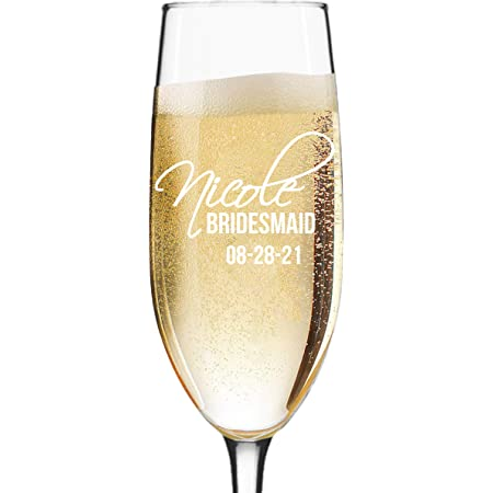 Champagne Flutes Set of 6 Champagne Flute Glass Champagne Flutes Champagne Glasses Wedding Glasses Bridesmaid Proposal Bridesmaid Gift