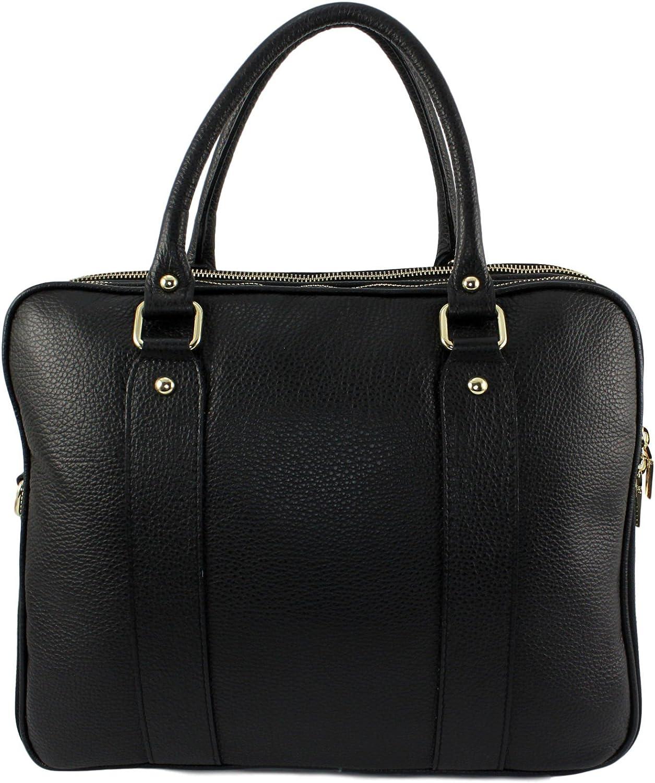 CHLOLY Choly Damen Handtasche Handtasche Handtasche aus Leder, Elegantie Italien, Schwarz B07DW64XRH 60d2ab