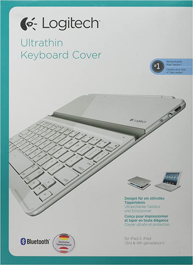 Logitech Ultrathin Keyboard Cover Bluetooth - Teclado para iPad 2 y iPad 3 Generation Blanco