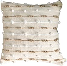 satTva Cushions Covers Handmade - 𝐁𝐎𝐇𝐎 𝐃𝐞𝐜𝐨𝐫 Summer Throw Pillow Covers for Living Room Sofa 45x45- White Texture...