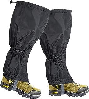 sci hiking Da uomo e da donna neve gamba ghette Winter Keep Warm impermeabile avvolge gamba per bagagliaio arrampicata caccia escursioni snowboard montagna ciaspole Ice attrezzatura Nero