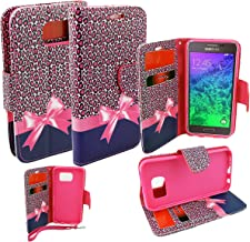 Customerfirst - Flip Wallet Pouch, Slim Folio Case with Kickstand, 2 Credit Card Slot Wallet Pouch Leather Wallet Folio Case, Credit Card ID Slots, Currency Pocket, Hand Strap For Samsung Galaxy S6 Active AT&T Phone Case Does Not Fit Regular Galaxy S6 (LEOPARD PAWS)