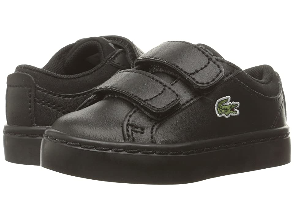 Lacoste Kids Straightset HL (Toddler/Little Kid) (Black) Kid