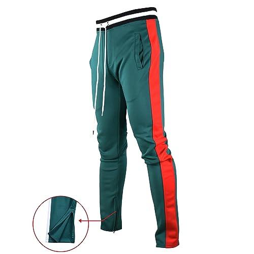 2ba71cc4e70 Screenshotbrand Mens Hip Hop Premium Slim Fit Track Pants - Athletic Jogger  Bottom with Side Taping