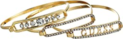 GUESS - Three-Piece Tension Bangle Set with Logo