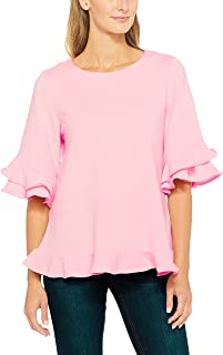 French Connection Women's Ruffle Tee