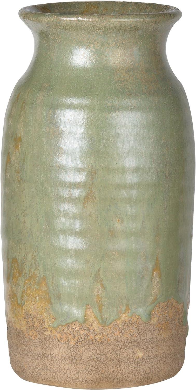 A&B Home Surry Ceramic Vase, Pale Green