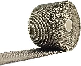 JC Performance Glossy Lava Rock Titanium High Heat Fiberglass Single Roll - 25% Thinner Than Our Standard Wrap! - Exhaust Header & Pipe Wrap Thermo Basalt (2