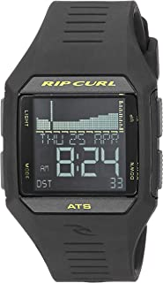 Rip Curl Men's Quartz Sport Watch with Polyurethane Strap, Black, 25 (Model: A1124MLI1SZ)
