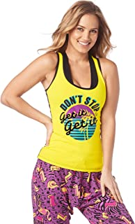 Soft Graphic Print Dance Fitness Tanks Workout Racerback Tops For Women
