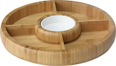 Home Basics CD47235 Bamboo, Natural Chip and Dip Bowl, One Size,