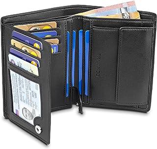 """TRAVANDO ® Porte Monnaie Homme Portefeuille """"Chicago"""" avec Blocage RFID - Porte-Monnaie Noir Classique, Porte-Cartes Forma..."""