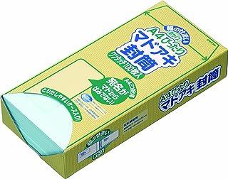 オキナ A4ぴったりマドアキ封筒 ブルー WT30BU 100枚入