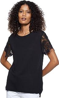 Tommy Hilfiger Women's Ww0Ww22573-Black Blouses