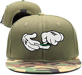 SJSNBZ Mouse Hands Mustard Rolling A Joint Cool Womens Mens Camouflage Baseball Hats