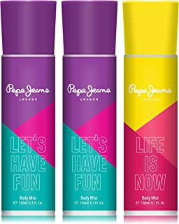 Pepe Jeans London Let's Have Fun Life Is Now Women Body Mist 150ml (Pack Of 3)