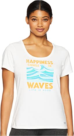 Happiness Comes in Waves Crusher Scoop Neck T-Shirt