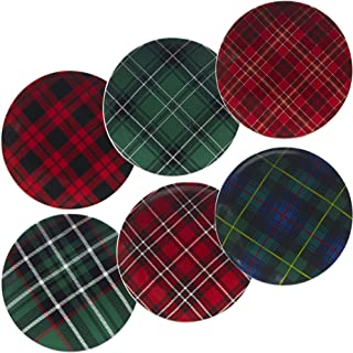 Certified International 22926SET6 Christmas Plaid 8.25