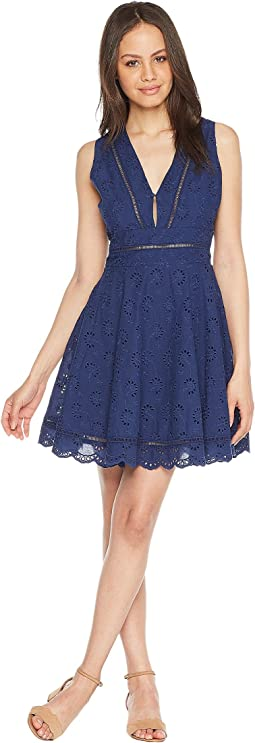 Vianne V-Neck Eyelet Dress