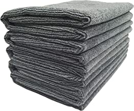 SOFTSPUN Microfiber Cleaning Cloths, 5pcs 40x60cms 340GSM Grey! Highly Absorbent, Lint and Streak Free, Large Multi -Purpose Wash Cloth for Kitchen, Car, Window, Stainless Steel, silverware.