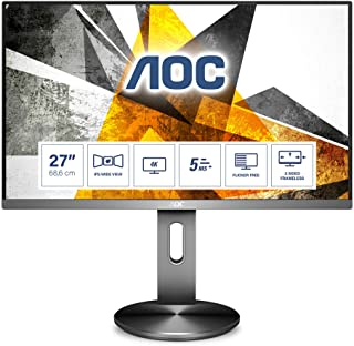 AOC U2790PQU   27 Zoll UHD Monitor, höhenverstellbar (3840x2460, 60 Hz, HDMI, DisplayPort, USB Hub) schwarz