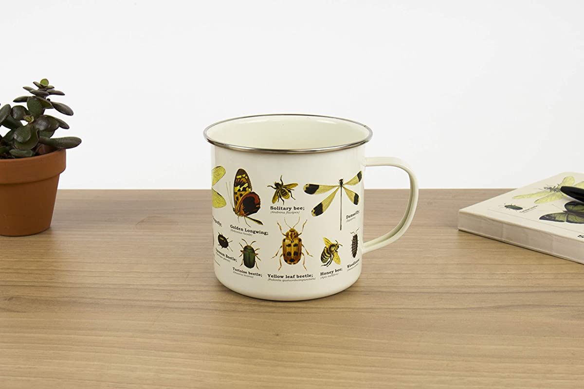 Gift Republic GR270097 Insects Enamel Mug Multicolor