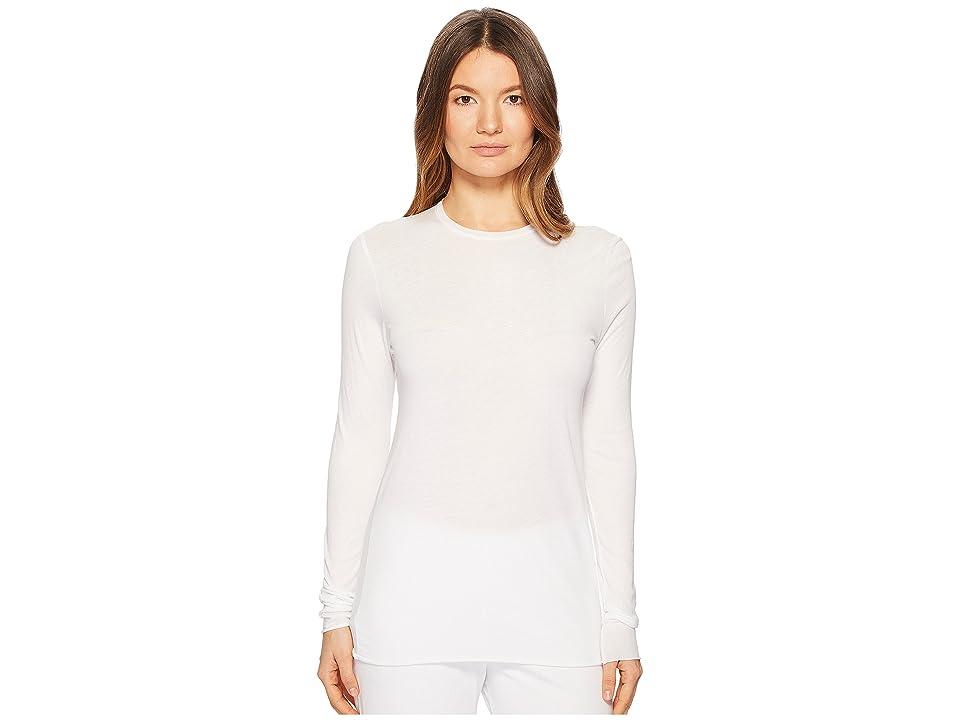 Skin Long Sleeve Crew Tee Single Jersey (White) Women