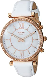 Fossil Womens Quartz Watch, Analog Display and Leather Strap FTW5043