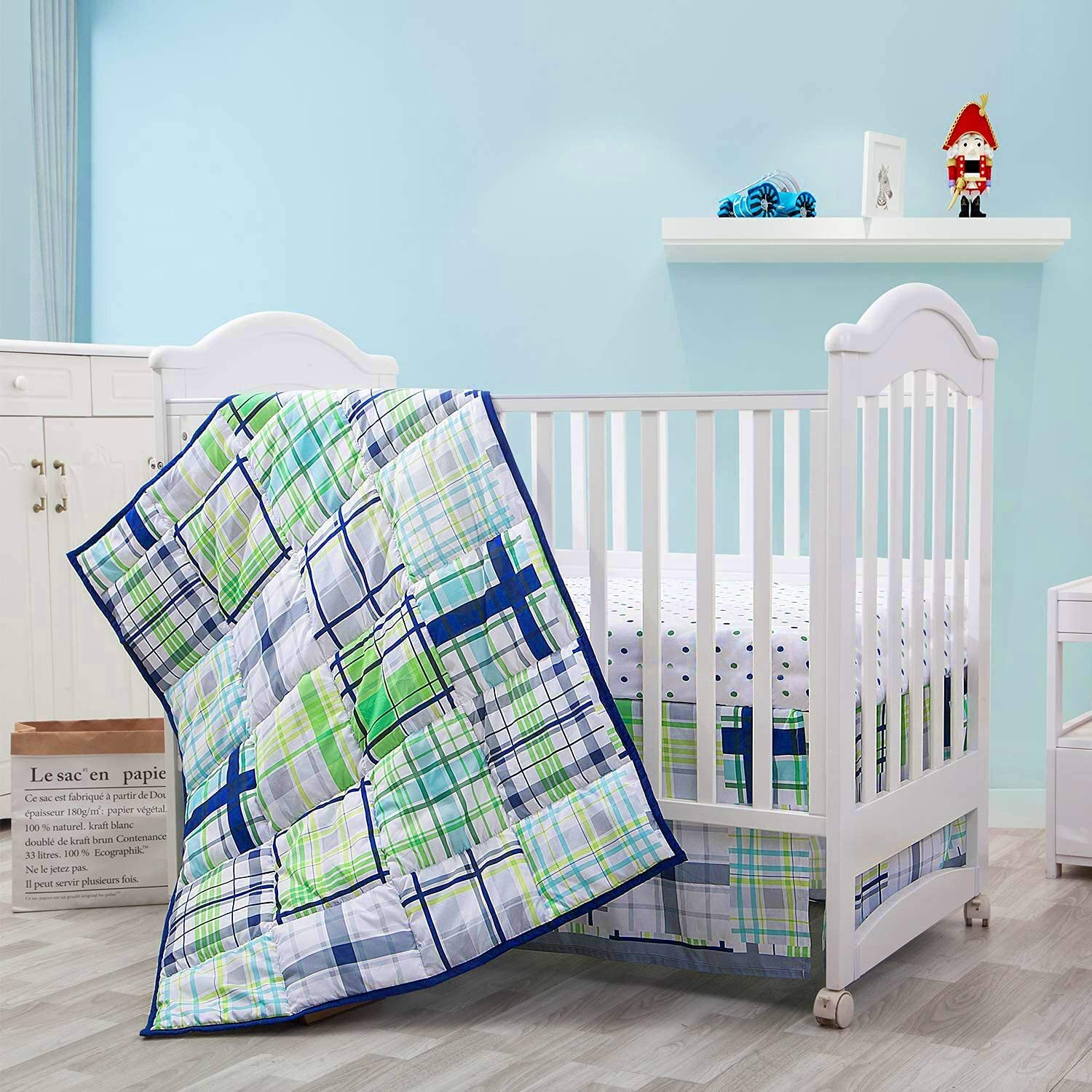 Little Grape Land 3 Piece Max 68% OFF Crib Bedding New product! New type Nu Set for Girls and Boys