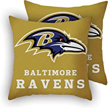 MT-Sports Football Team Super Bowl Throw Pillow Covers Pillow Cases Two Size Decorative Pillowcase Protecter with Zipper W...