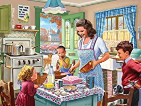 """Bits and Pieces - 300 Piece Jigsaw Puzzle for Adults 18"""" x 24"""" - Kitchen Memories - 300 pc Classic 50's Baking Cake Family Jigsaw by Artist Steve Crisp"""