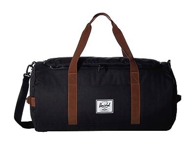 Herschel Supply Co. Sutton (Black/Saddle Brown) Duffel Bags