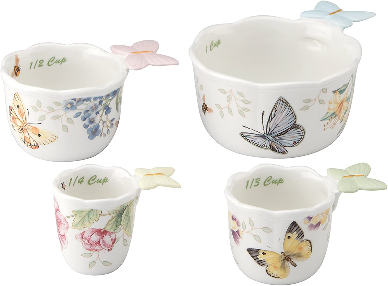 Our shop most popular Lenox Butterfly Meadow Bargain sale Measuring 4 Cups of Set