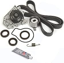 Evergreen TBKWP227 Timing Belt Kit Water Pump Fits 96-00 Honda Civic Si Del Sol 1.6 DOHC B16A2