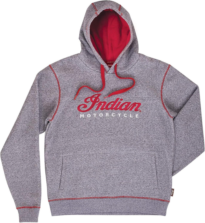 Factory outlet Indian Motorcycle Men's Logo Hoodie Gray New sales Sweatshirt