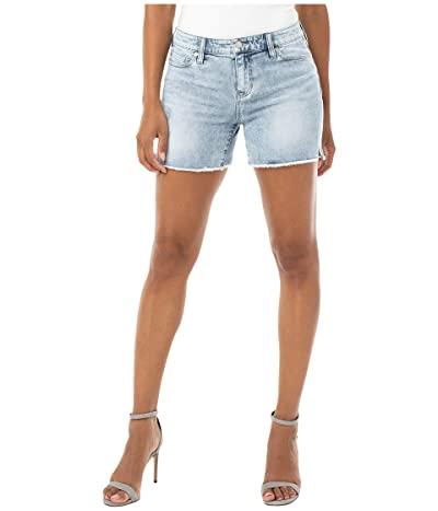 Liverpool Vickie Fray Hem Shorts (Bianca) Women