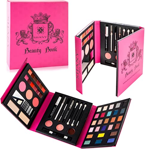 SHANY Beauty Book Makeup Kit – All in one Travel Makeup Set - 35 Colors Eye shadow, Eye brow, blushes, powder palette...