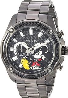 Invicta Disney Limited Edition - Reloj de pulsera para hombre, cuarzo, acero inoxidable, color negro (modelo: 27360)