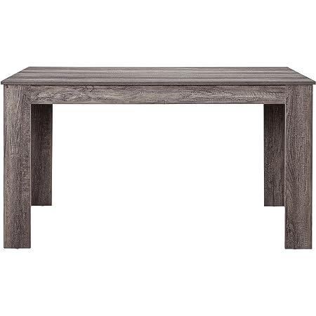 [en.casa] Table de Salle à Manger Nora Chêne Robuste Brun Foncé 140 x 90cm