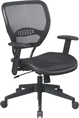 Space Space Air Grid Deluxe Task Chair, 20-1/2w x 19-1/2d x 42h, Black