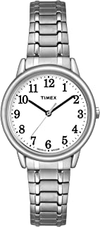 Timex Women Easy Reader | Silver-Tone w White Dial Indiglo Watch TW2P78500