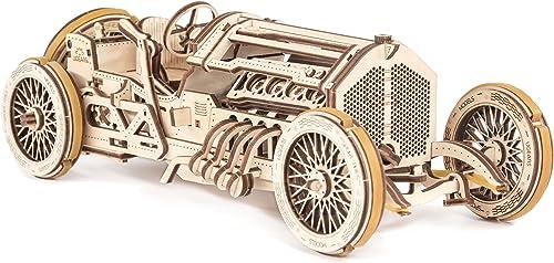 UGEARS U-9 Grand Prix Course, modélisme, Construction Automobile, rétro, Voiture Ancienne avec Moteur et Mani, 70044,