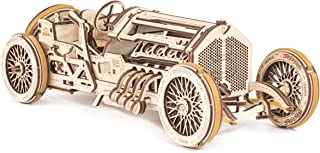 بخار. اسباب بازی خطی مدل های مکانیکی UGears 3D پازل چوبی - مکانیکی U-9 Grand Prix Car