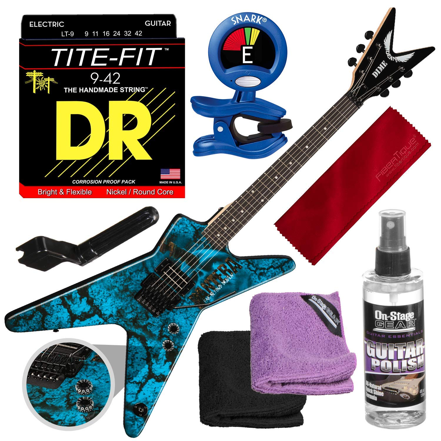 Cheap Dean Dimebag Pantera Far Beyond Driven ML Electric Guitar with Clip-On Tuner & Accessory Bundle Black Friday & Cyber Monday 2019