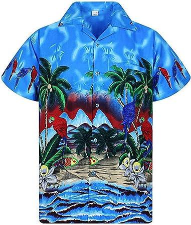 Planta De Coco Tropical Estampado Hombre Hawaiian Camisa ...